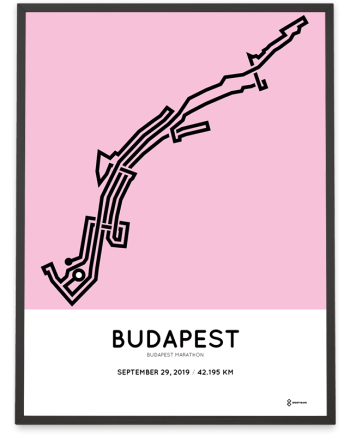 2019 Budapest marathon Sportymaps course poster