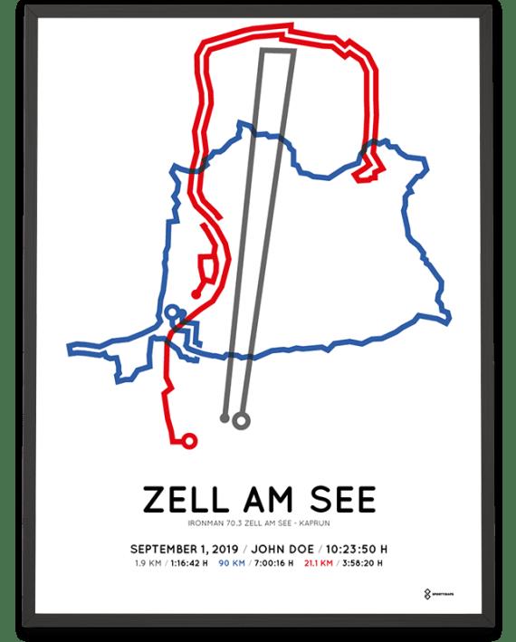 2019 Ironman 70.3 Zell am See - Kaprun course print