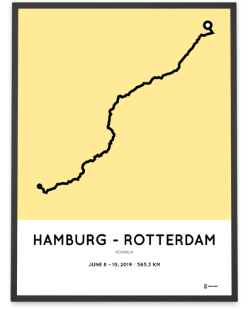 2019 Roparun Hamburg course poster