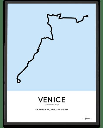 2013 Venicemarathon course poster