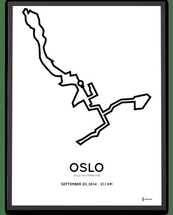 2014 Oslo half marathon course poster