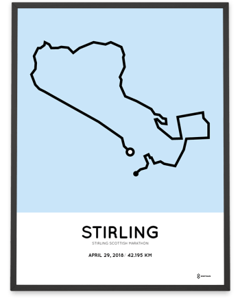 2018 Stirling Scottish marathon course poster