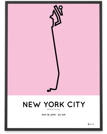 2019 Brooklyn half course poster