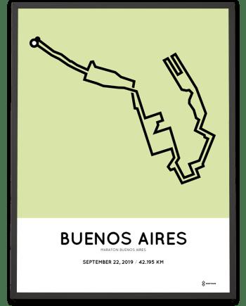 2019 Maraton Buenos Aires coursemap poster