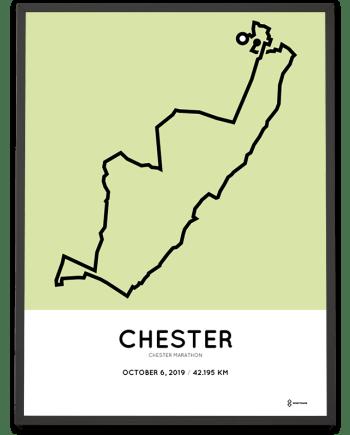 2019 Chester marathon course poster