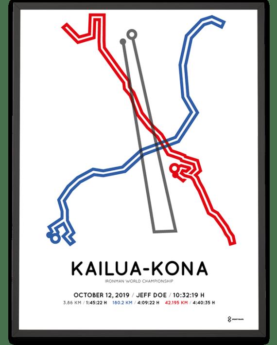 2019 Ironman World Championship Kona course poster