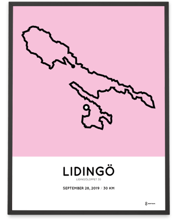2019 Lidingöloppet 30km course poster