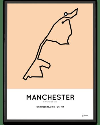 2019 Manchester half marathoner map