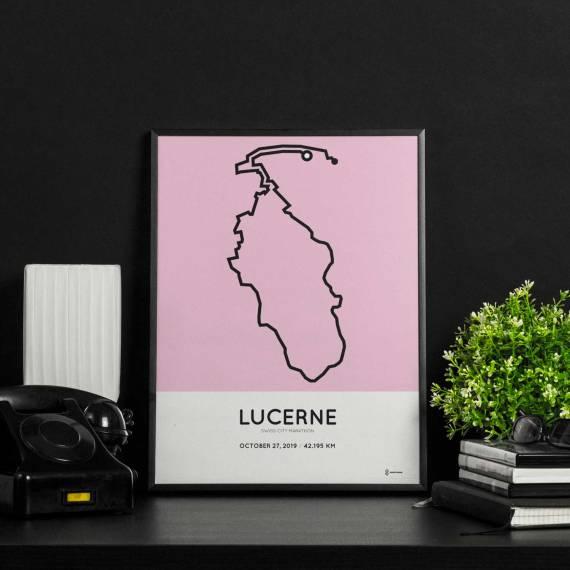 2019 Lucerne marathon racetrace print