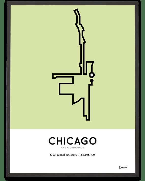 2010 Chicago marathon course poster