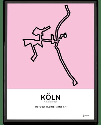 2012 Köln marathon strecke poster