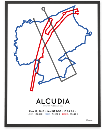 2018 Ironman 70.3 Alcudia-Mallorca course poster