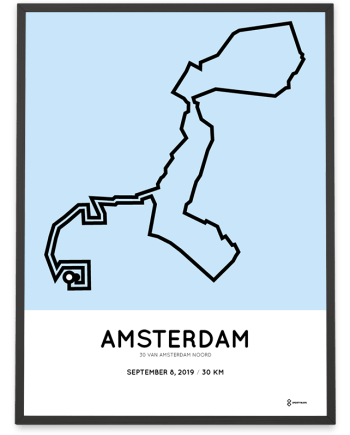 2019 30 van amsterdam noord parcours poster