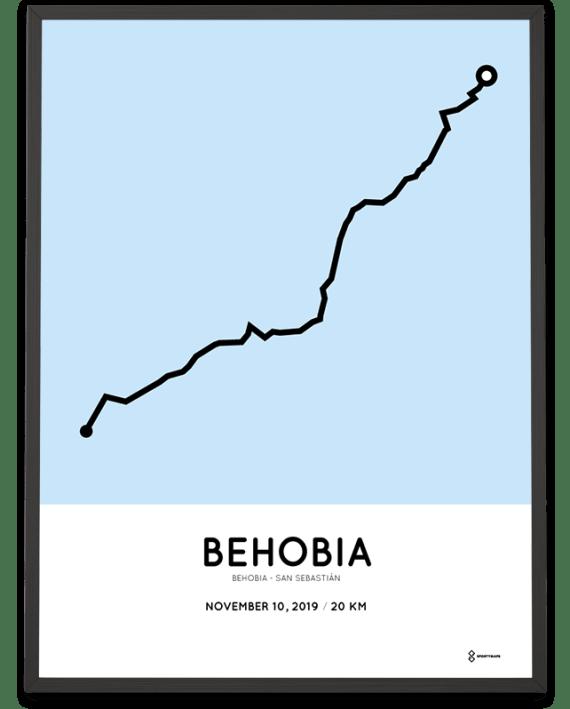 2019 Behobia-San Sebastian course poster