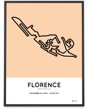2019 Firenze marathon course poster