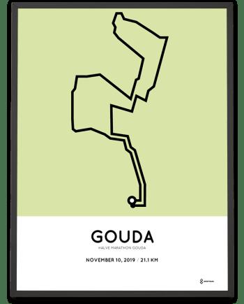 2019 Gouda halve marathon parcours sportymaps print