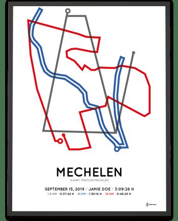 2019 Kwart triatlon Mechelen parcours print