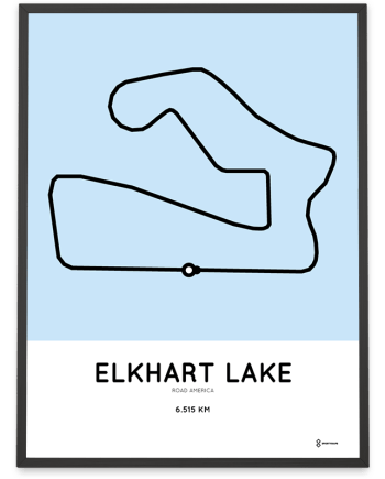 road america racetrack course poster