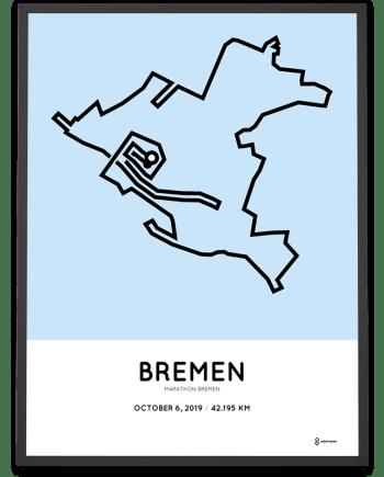 2019-Bremen marathon Strecke print