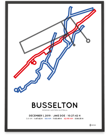 2019 Ironman Busselton course poster