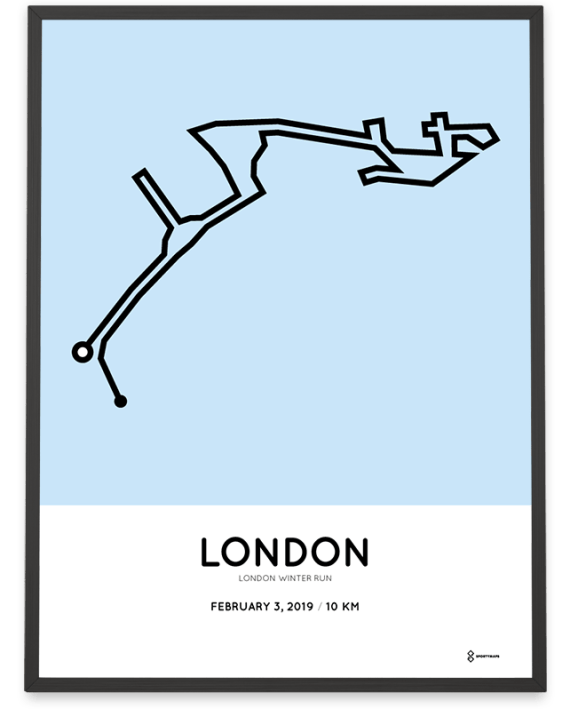 2019 London Winter Run course poster