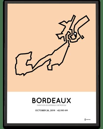 2019 Bordeaux marathon parcours poster