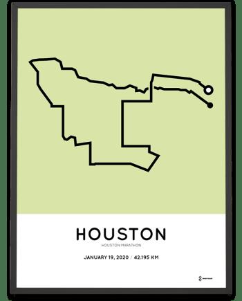 2020 Houston marathon course poster