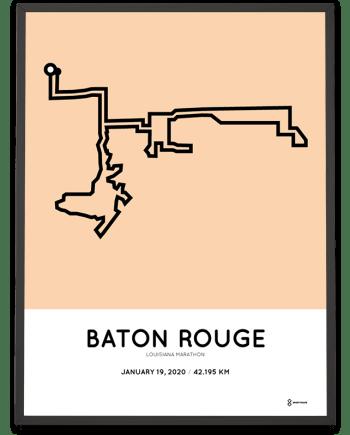 2020 Louisiana marathon course poster
