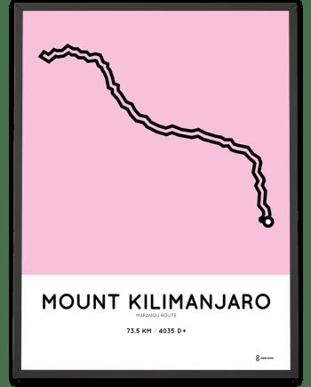 Kilimanjaro Marangu route poster