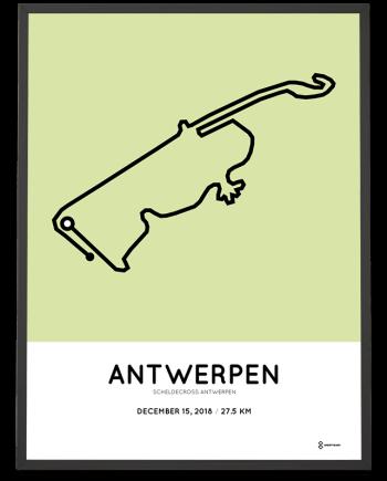 2018 Scheldecross Antwerpen route print