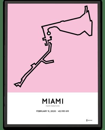2020 Miami marathon course poster