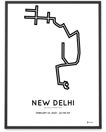 2020 New Delhi marathon routemap print