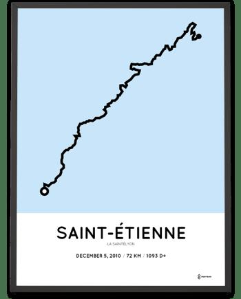 2010 la saintelyon parcours poster