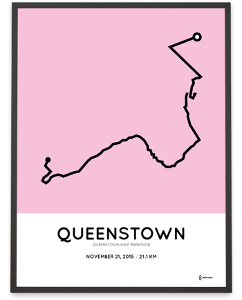 2015 Queenstown half marathoner map
