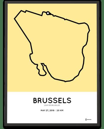 2018 20km door Brussel parcours poster