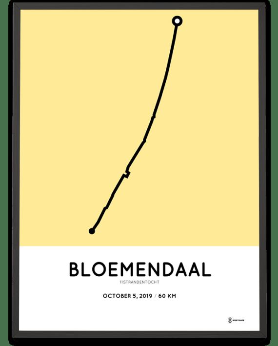 2019 11Strandentocht 60km parcours poster