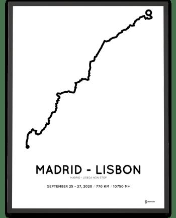 2020 Madrid-Lisboa non stop parcours poster