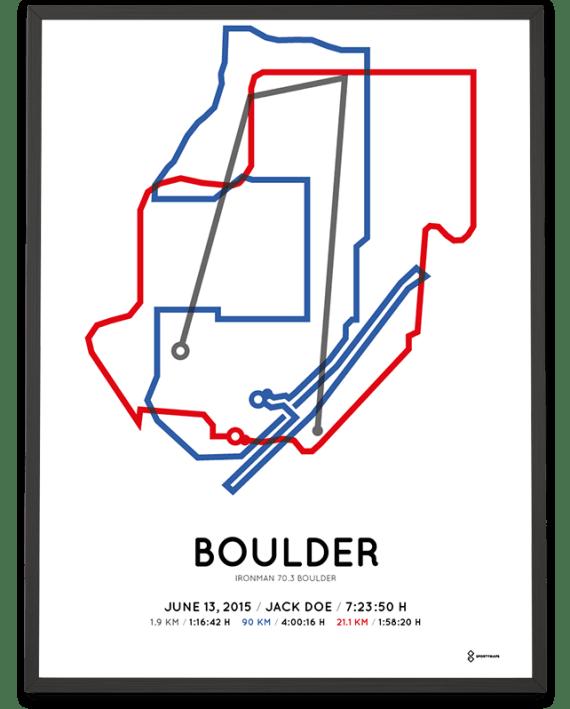 2015 Ironman 70.3 Boulder course poster