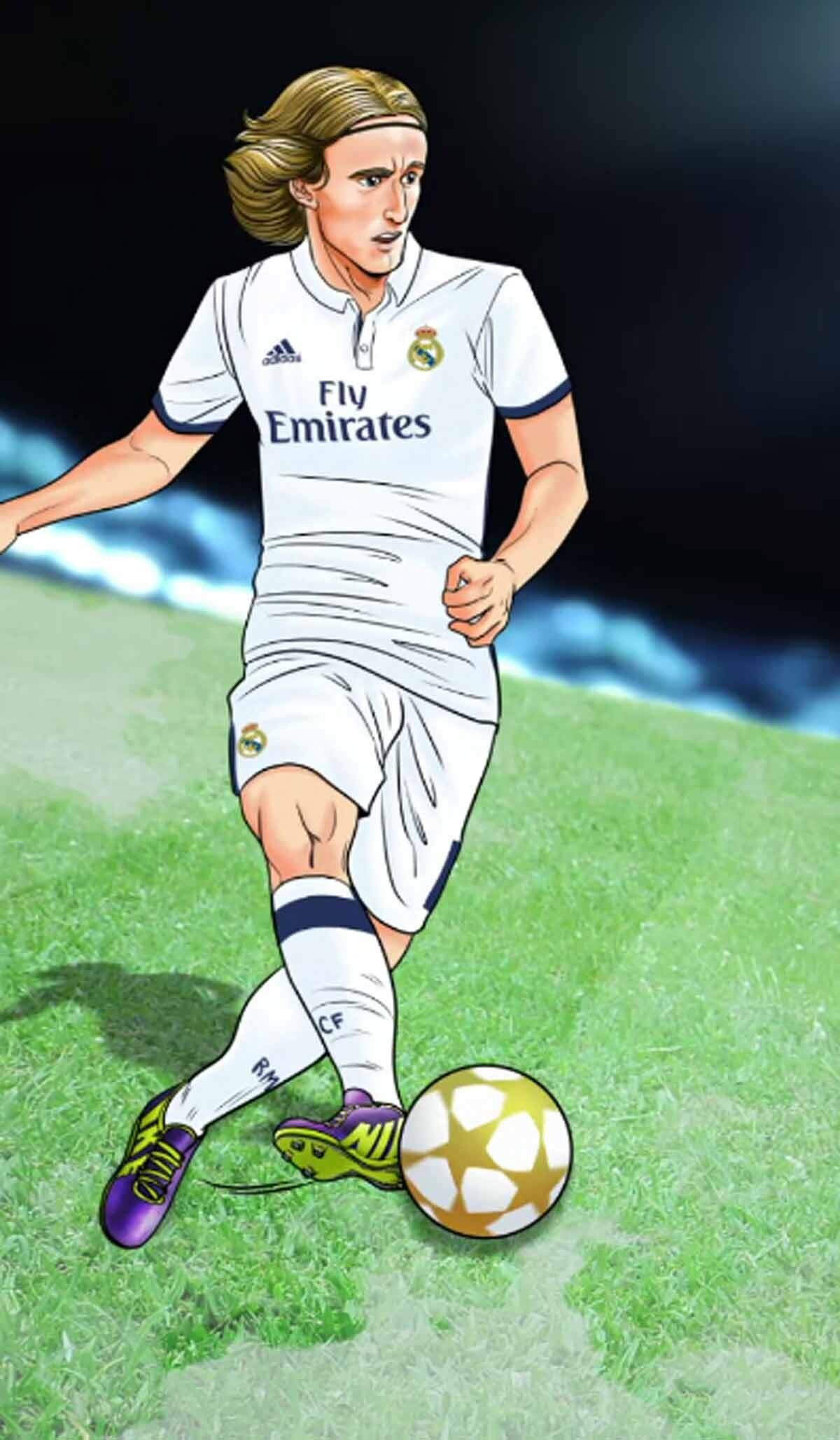 Los jugadores del Real Madrid en versin manga