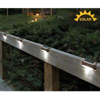 Solar LED Deck Lights (Set of 4)