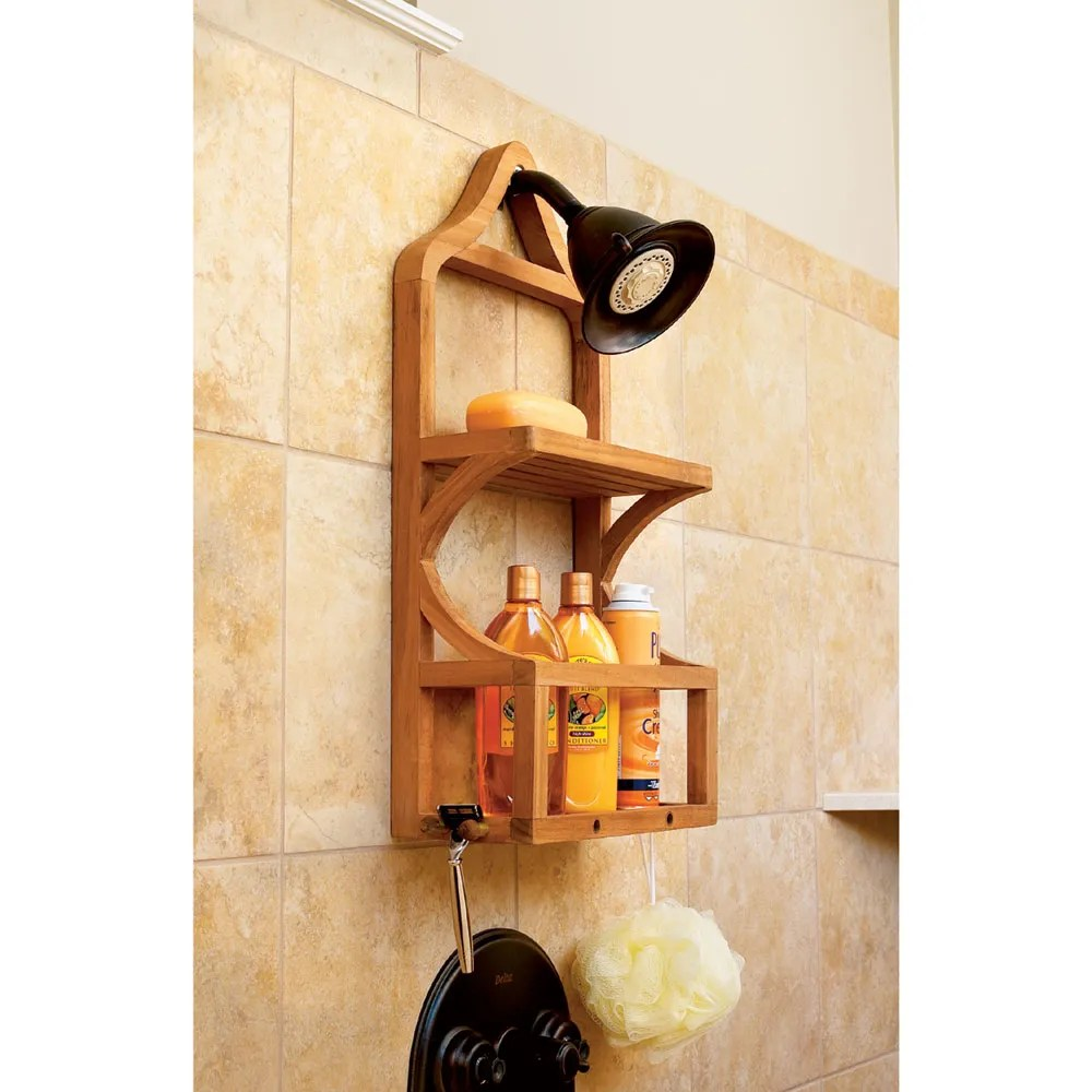 Teak Shower Organizer From Sportys Preferred Living