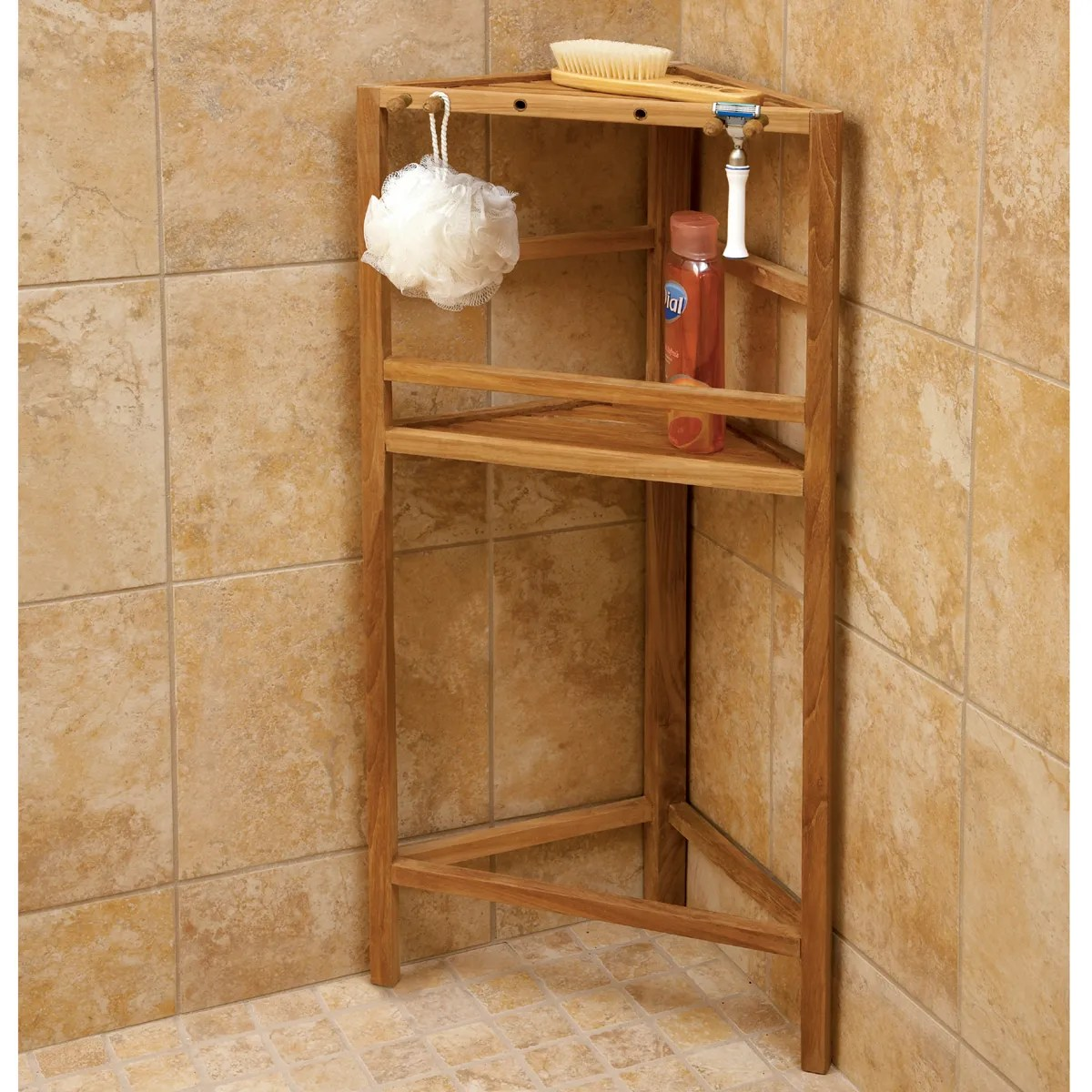 Teak Shower Shelving From Sportys Preferred Living