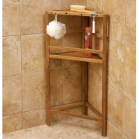 Teak Shower Shelving