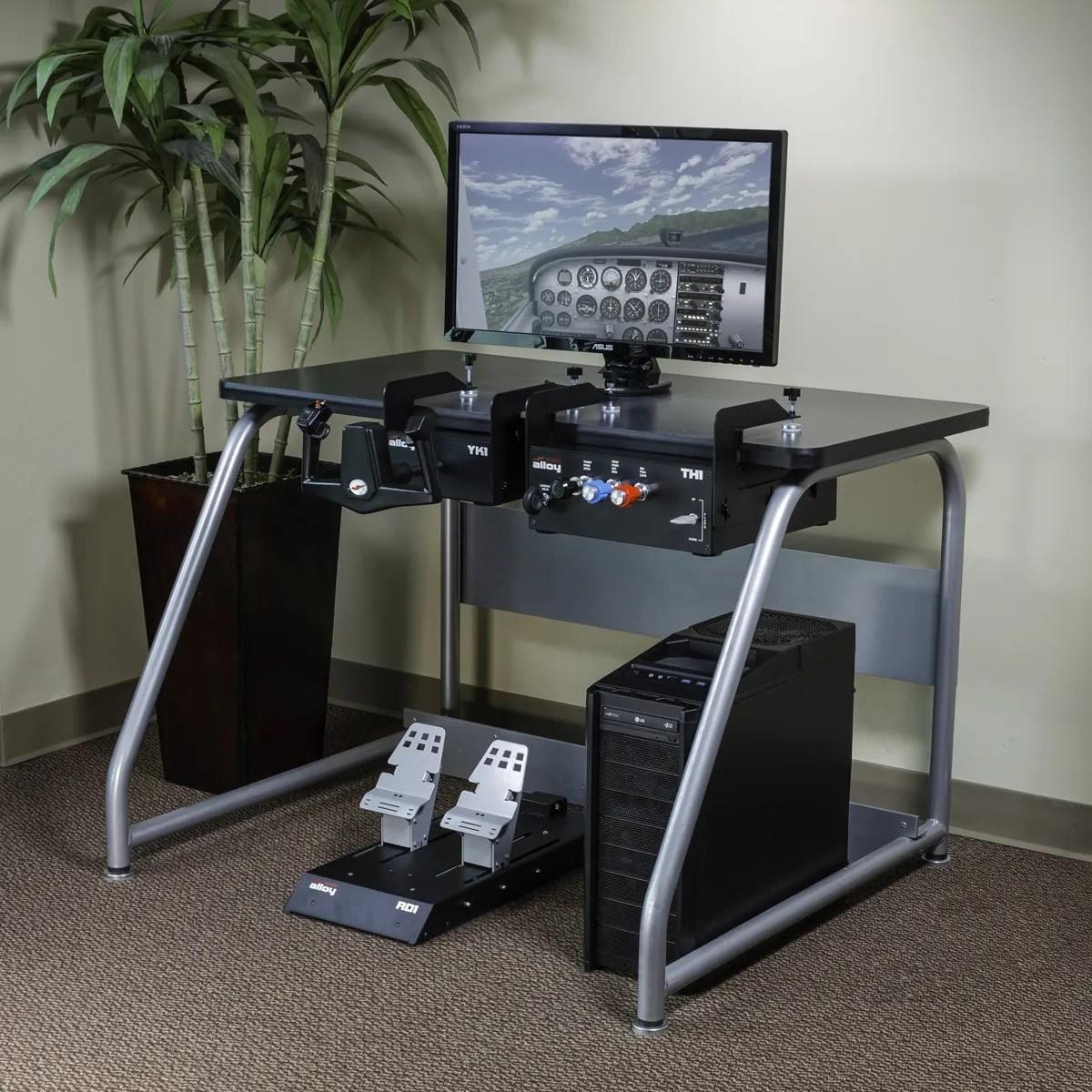 Redbird Alloy Flight Simulator Complete Kit yoke rudder