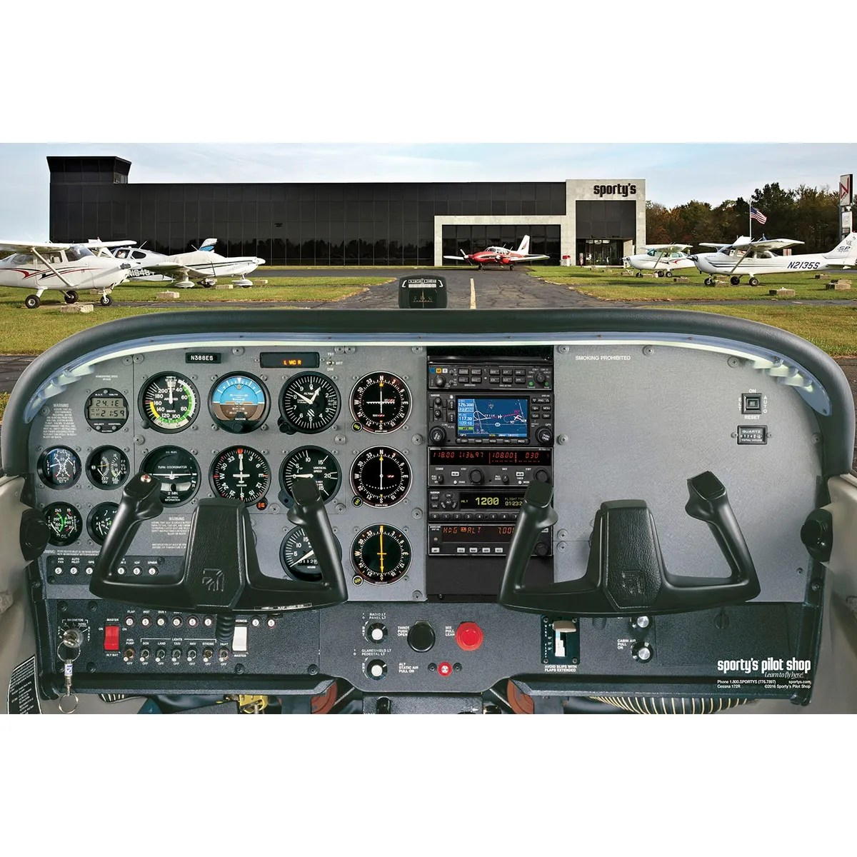 cessna 172 dashboard diagram viper max winch wiring free poster from sporty s pilot shop