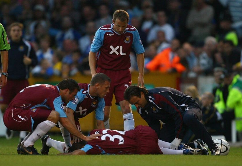 Kieron Dyer injury