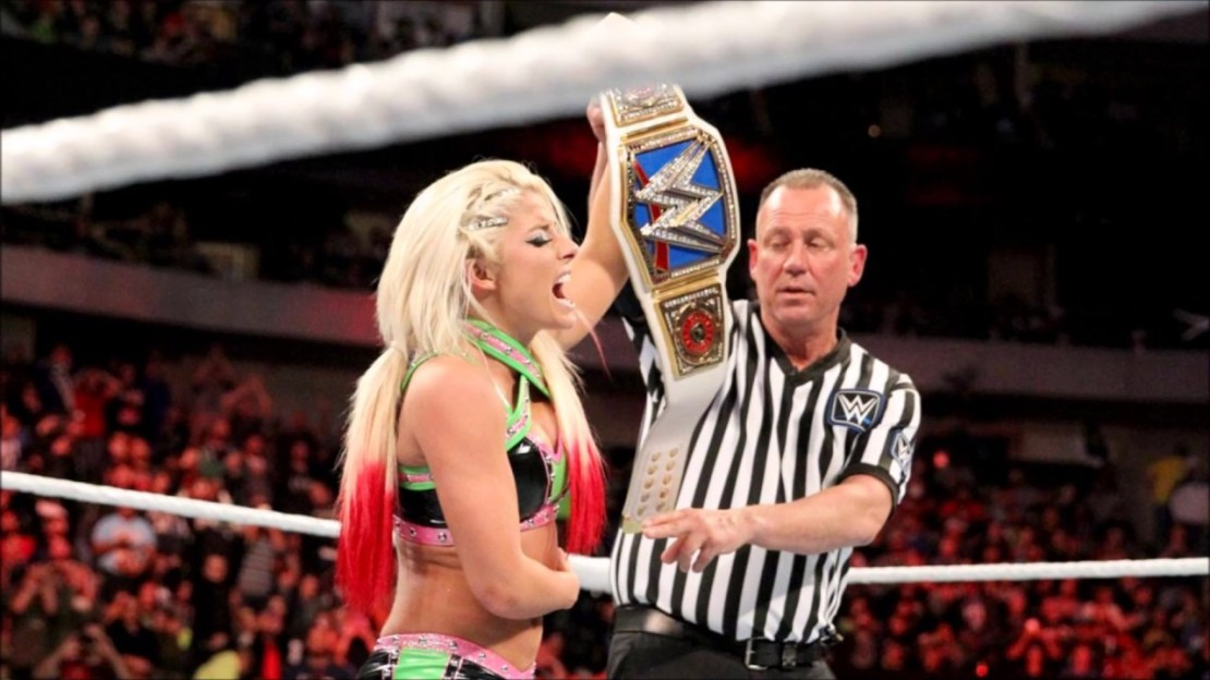 Alexa bliss Becoming the Smack down champion