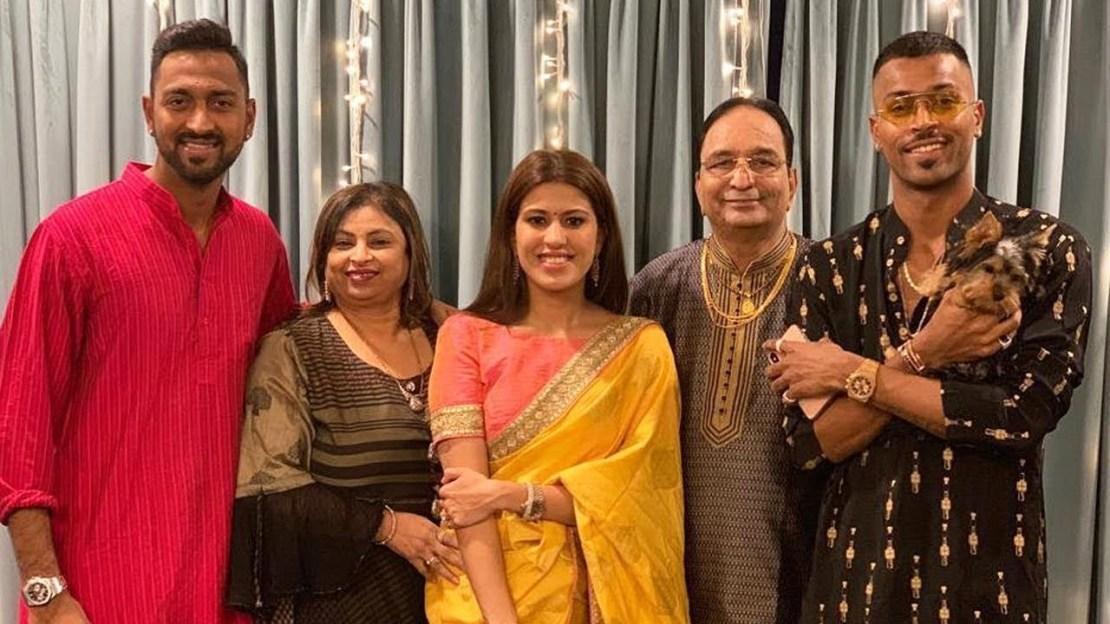 Hardik Pandya's family: