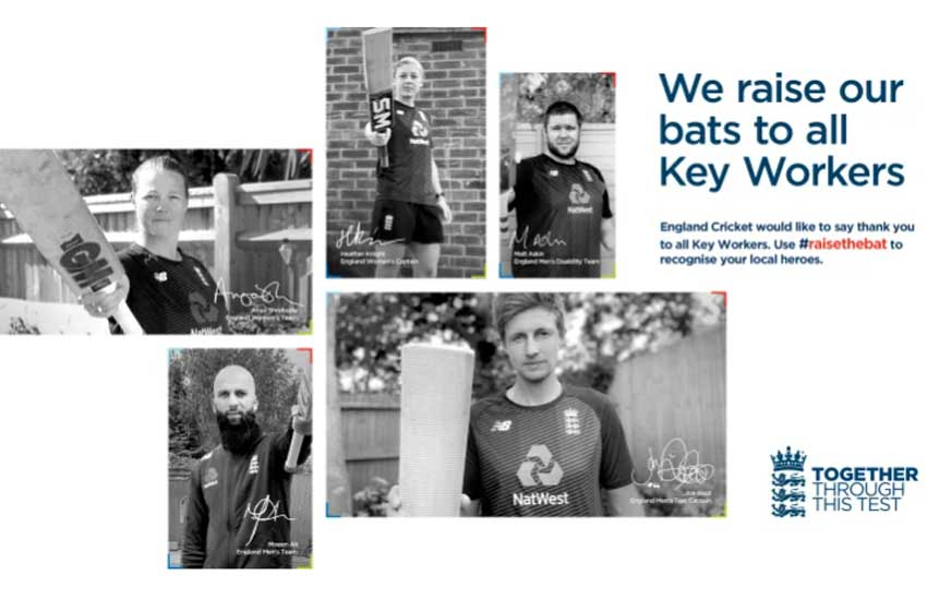 ECB's #raisethebat Test series to honour and celebrate key workers