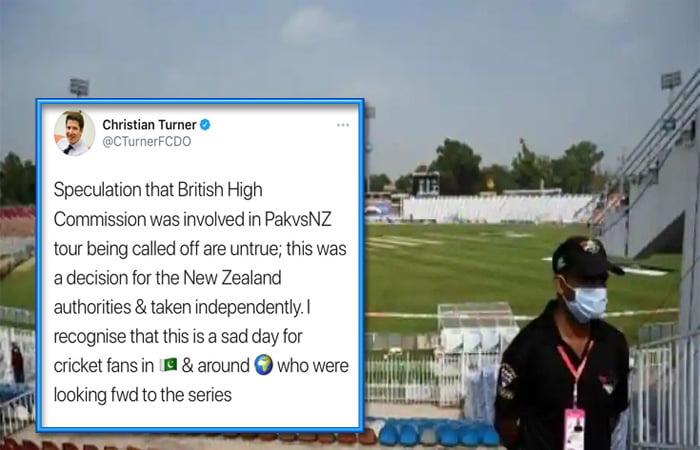 UK envoy Christian Turner dismisses reports of involvement in NZ's cancellation of Pak tour